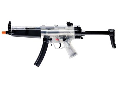 H&K MP5 A Retractable Airsoft Rifle, Clear