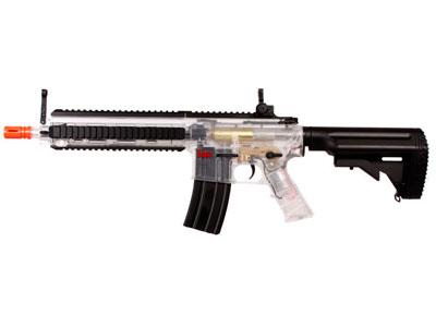 H&K 416 AEG Airsoft Rifle, Clear