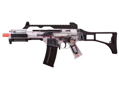 H&K G36C AEG Airsoft Rifle, Clear