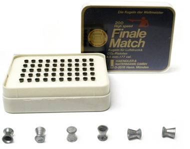 H&N Finale Match .177 Cal, 7.6 Grains, Wadcutter, 200ct