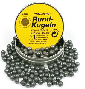 H&N .25 Cal, Round Ball, 24 Grains, 200ct