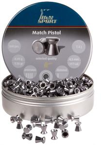 H&N Match Pistol, .177 Cal, 4.51mm, 7.56 Grains, Wadcutter, 500ct
