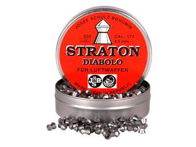 JSB Diabolo Straton, .177 Cal, 8.25 Grains, Pointed, 500ct