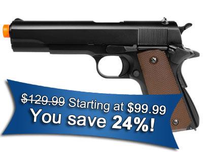 KJ Works Full Metal 1911 Gas Airsoft Pistol