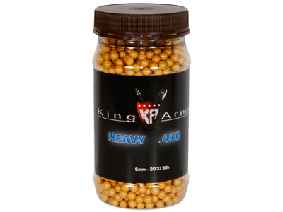 King Arms 6mm Airsoft BBs, 0.40g, 2,000 Rds, Orange