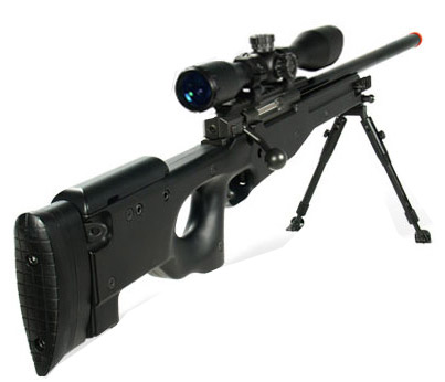 Airsoft UTG Type 96 Black Sniper with Scope
