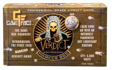 Game Face Verdict 6mm Marking Airsoft BBs, 0.25g, 5000 rds, White