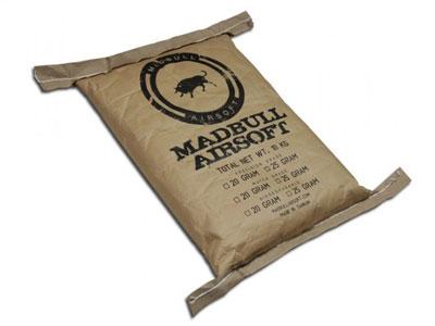 Mad Bull Precision Grade 6mm Plastic Airsoft BBs, 0.20g, 50,000 rds, 10kg Bag