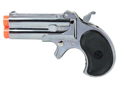 Marushin Derringer Gas Airsoft Pistol, Silver