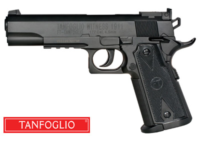 Tanfoglio Witness 1911 CO2 BB Pistol, Black Grips