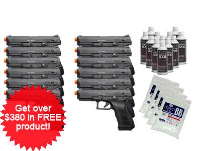 KWA ATP Adaptive Training Airsoft Pistol, 12 Pack