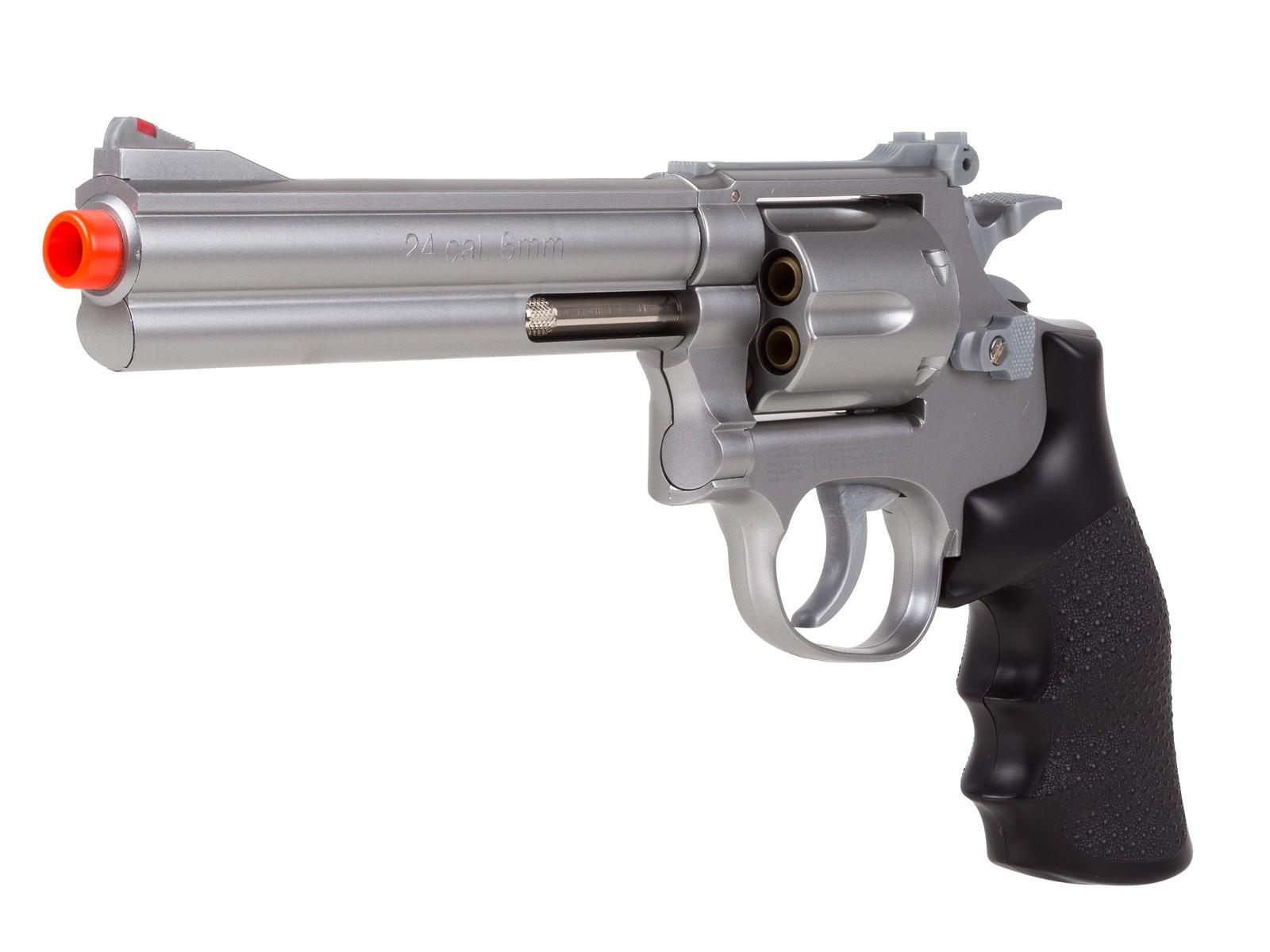 TSD_Sports_Airsoft_Spring_Revolver__6_Barrel_SilverBlack_6mm