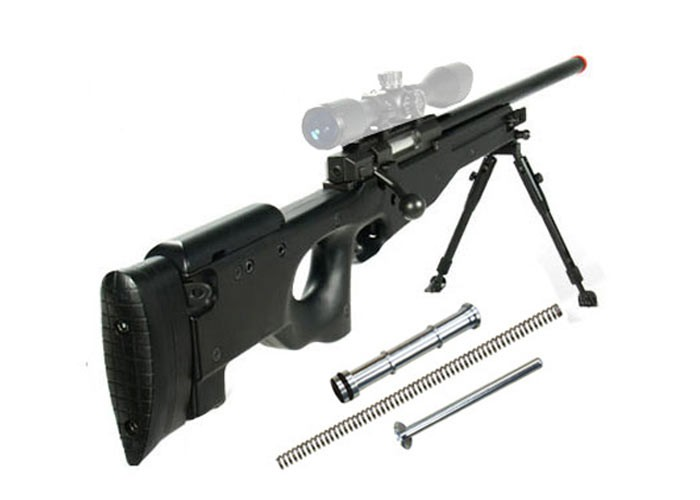 UTG Type 96 Black Airsoft Sniper w/Upgraded Spring