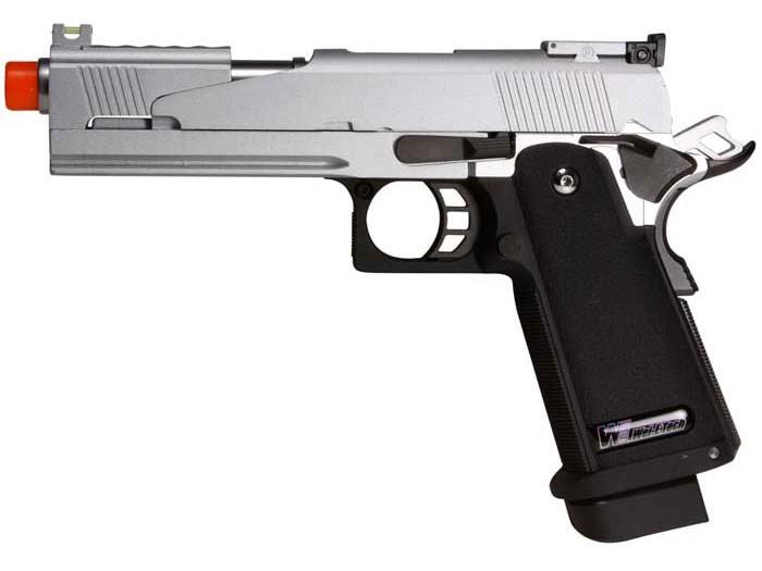 WE Hi-Capa 5.1 Dragon Type A Silver Metal Pistol