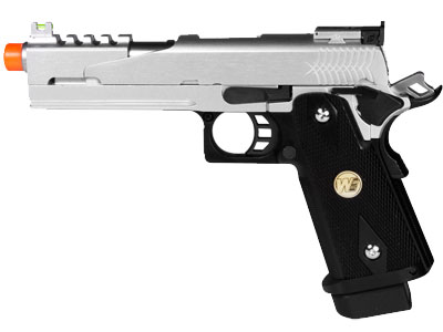 WE Hi-Capa 5.1 Dragon Type B Silver Metal Pistol