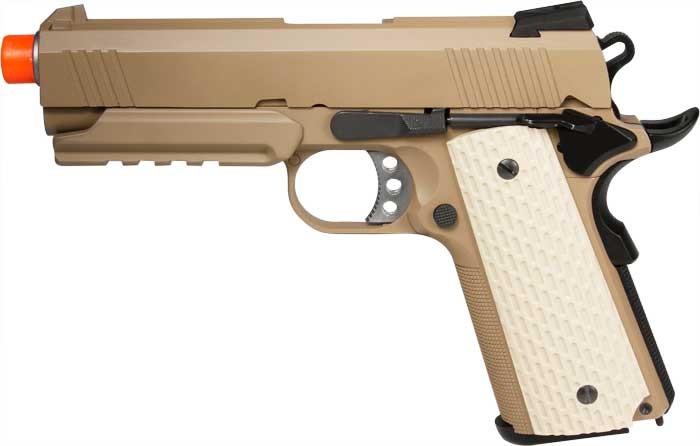 WE Desert Warrior 4.3 Airsoft Gas Pistol w/ rail