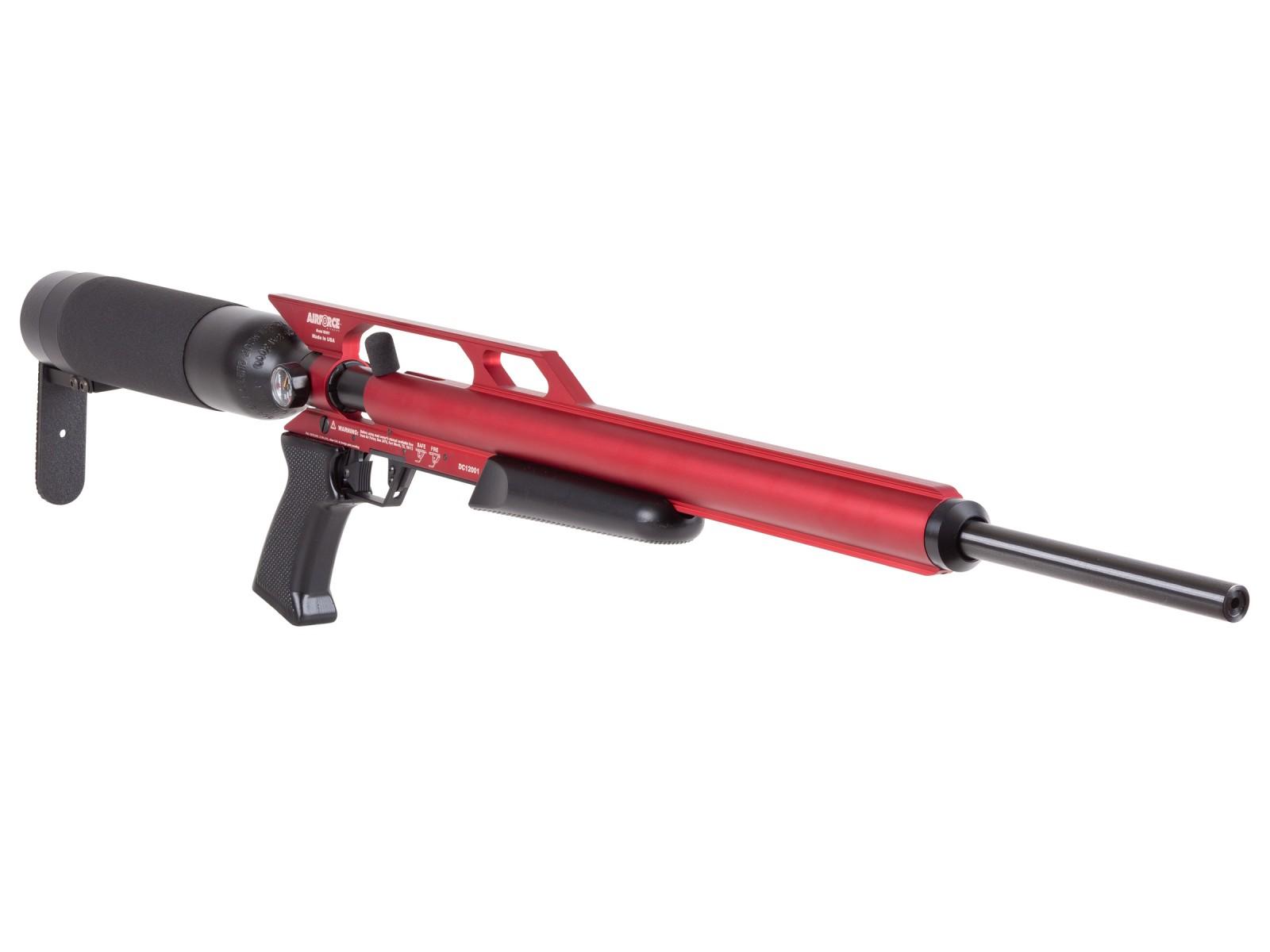 AirForce Condor PCP Air Rifle, Spin-Loc Tank, Red