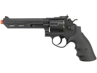 "HFC HG-133 6"" Barrel Gas Revolver, Black"