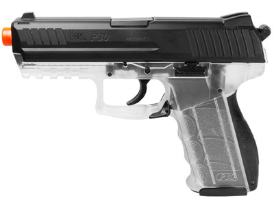 H&K P30 Spring Airsoft Pistol, Clear