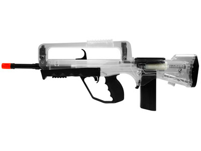 Famas Foreign Legion Spring Airsoft Rifle, Clear