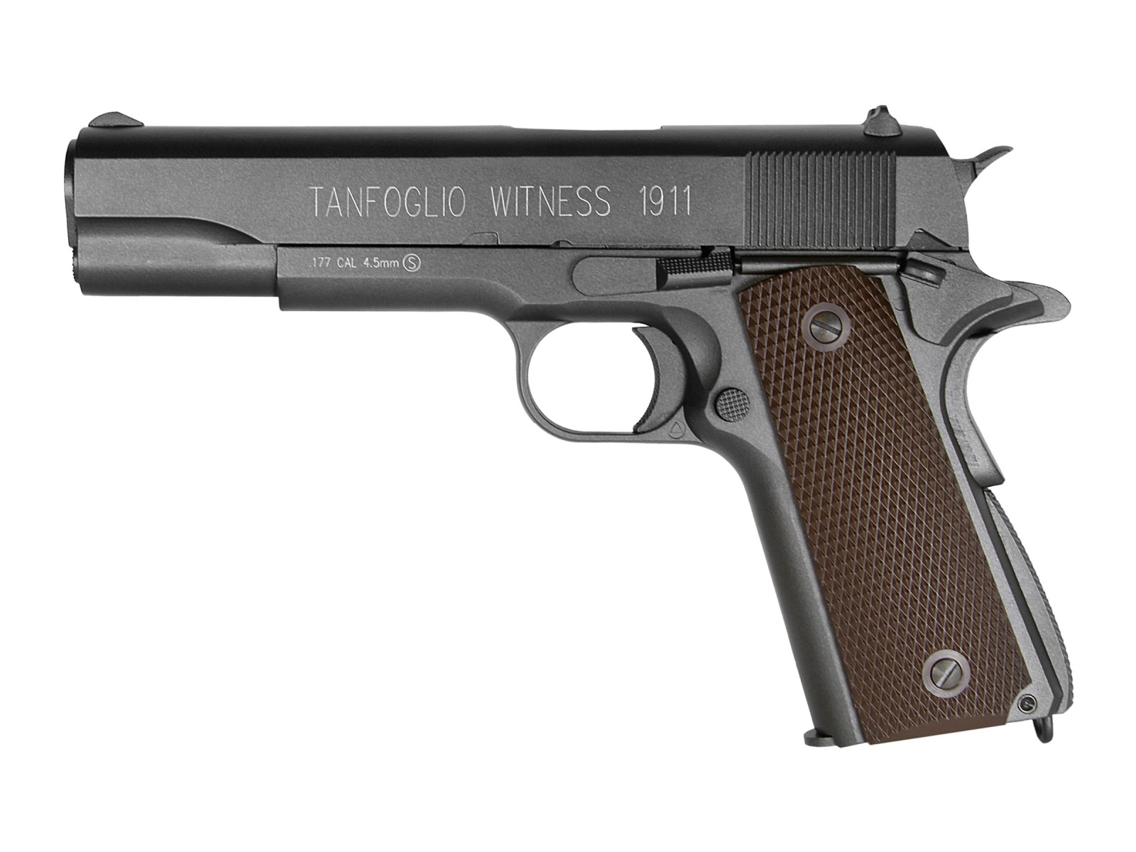 KWC Tanfoglio Witness 1911 CO2 BB Pistol, Brown Grips. Air ...