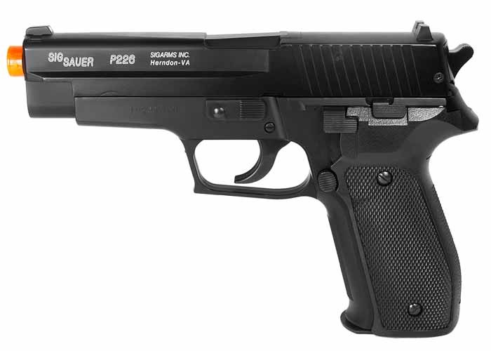 SIG Sauer P226 Spring Airsoft Pistol, Metal Slide