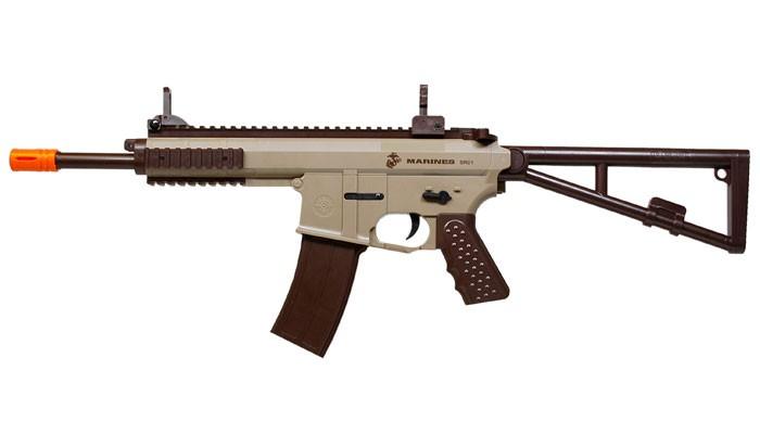 Marines Airsoft SR01 Airsoft Rifle, Folding Stock