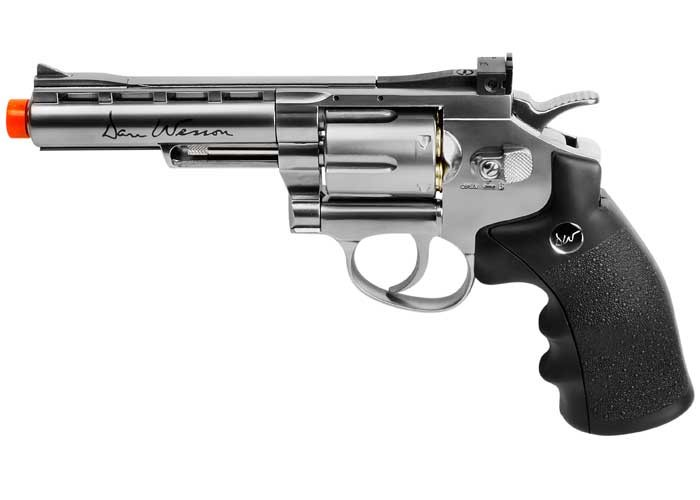"Dan Wesson 4"" CO2 Airsoft Revolver, Silver"