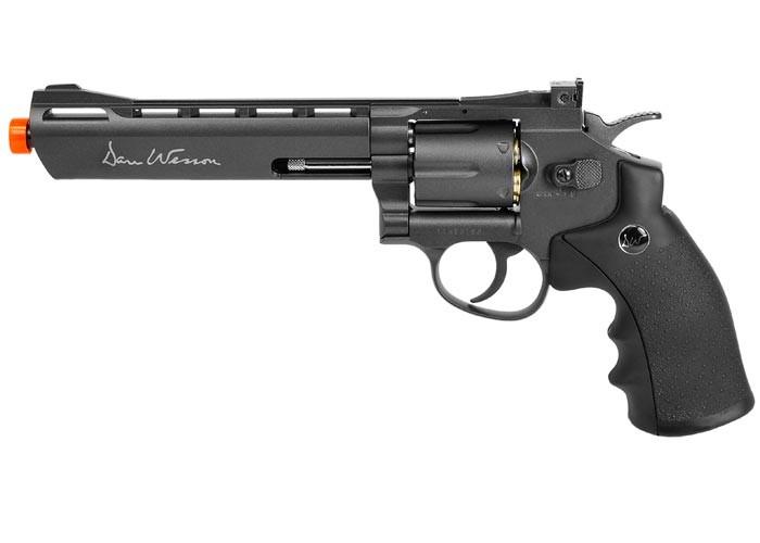"Dan Wesson 6"" CO2 Airsoft Revolver, Grey"