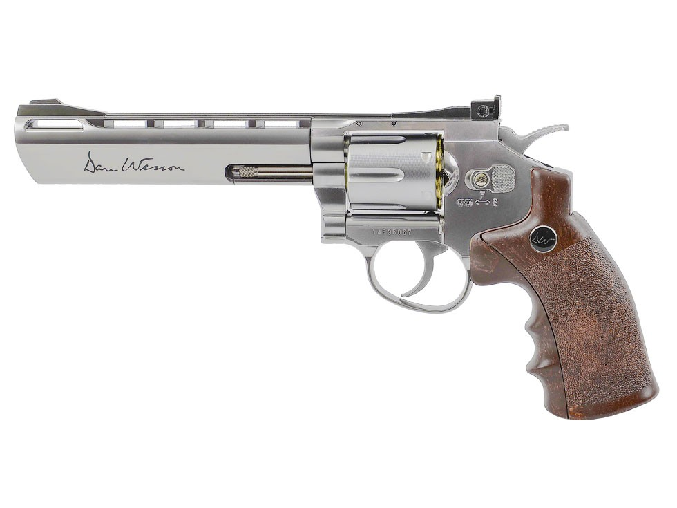 """Dan Wesson 6"""" CO2 BB Revolver, Silver"""