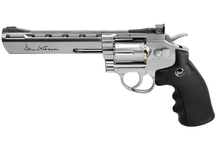 "Dan Wesson 6"" CO2 BB Revolver, Silver"