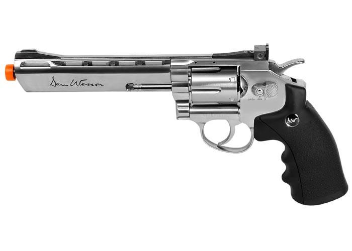 """Dan Wesson 6"""" CO2 Airsoft Revolver, Silver"""