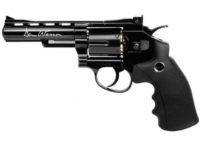 """Dan Wesson 4"""" CO2 BB Revolver, Black"""