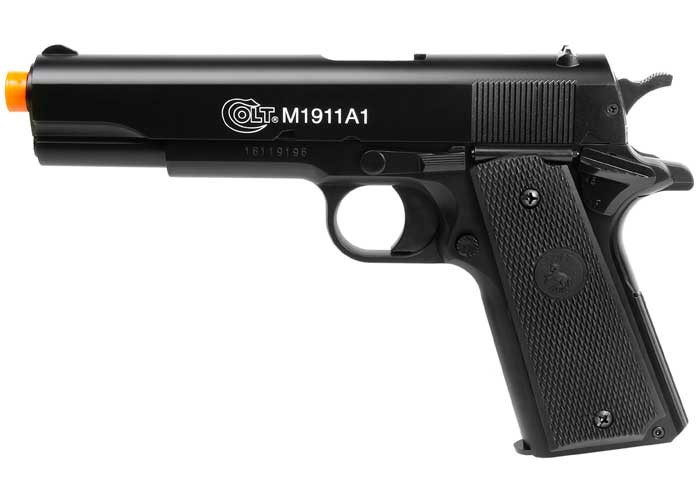 Colt M1911A1 Spring Airsoft Pistol, Black