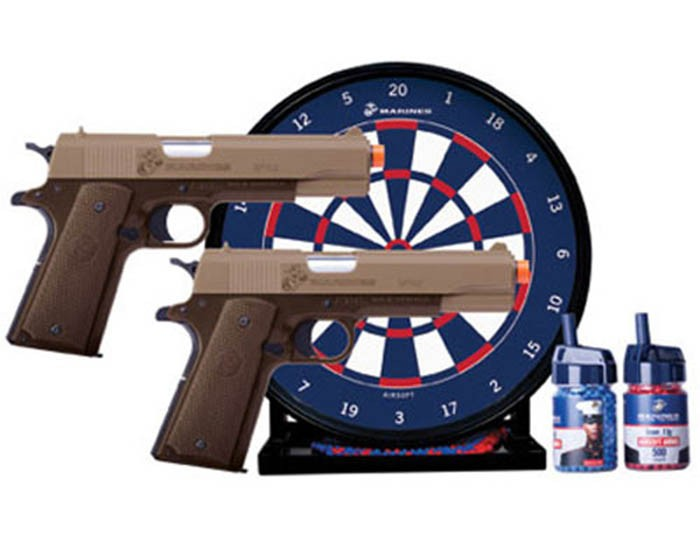 Marines Airsoft Dual Spring Airsoft Pistol Kit