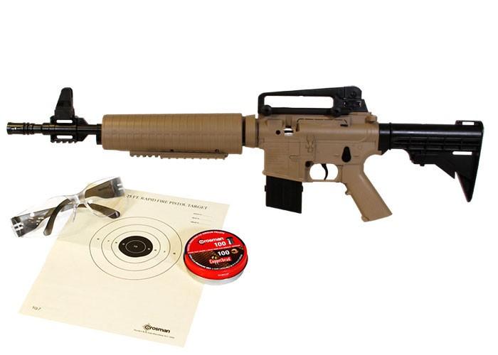 Crosman M4-177 Tactical Air Rifle Kit, Tan/Black