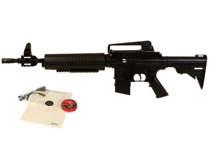 Crosman M4-177 Multi-Pump Air Rifle Kit, Black