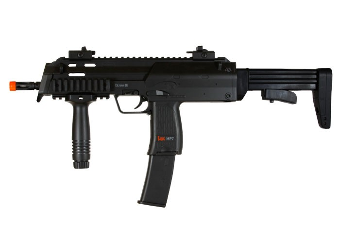 H&K MP7 AEG Airsoft Submachine Gun, Black 6mm