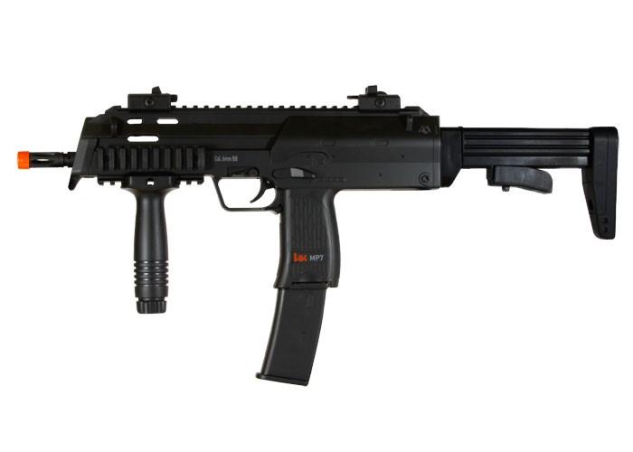 heckler koch h k mp7 aeg airsoft submachine gun black airsoft guns. Black Bedroom Furniture Sets. Home Design Ideas
