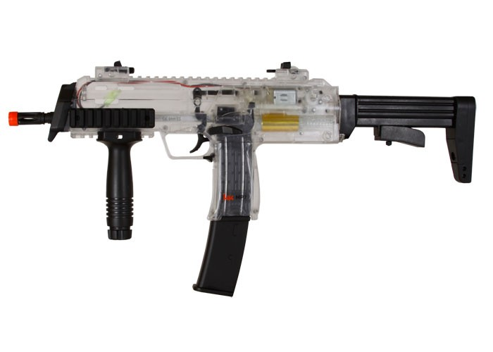 Cheap H&K MP7 AEG Airsoft Submachine Gun, Clear 6mm