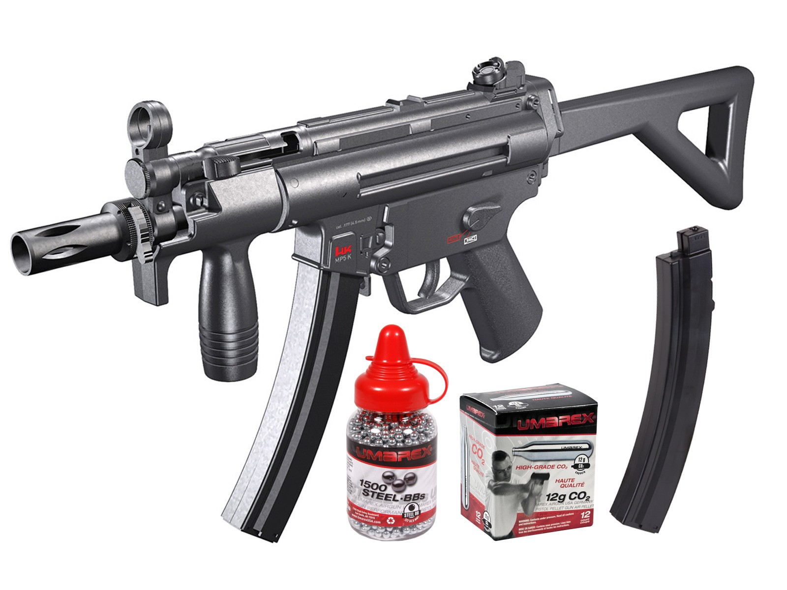 Cheap MP5 Silver Storm (H&K MP5-PDW) 0.177