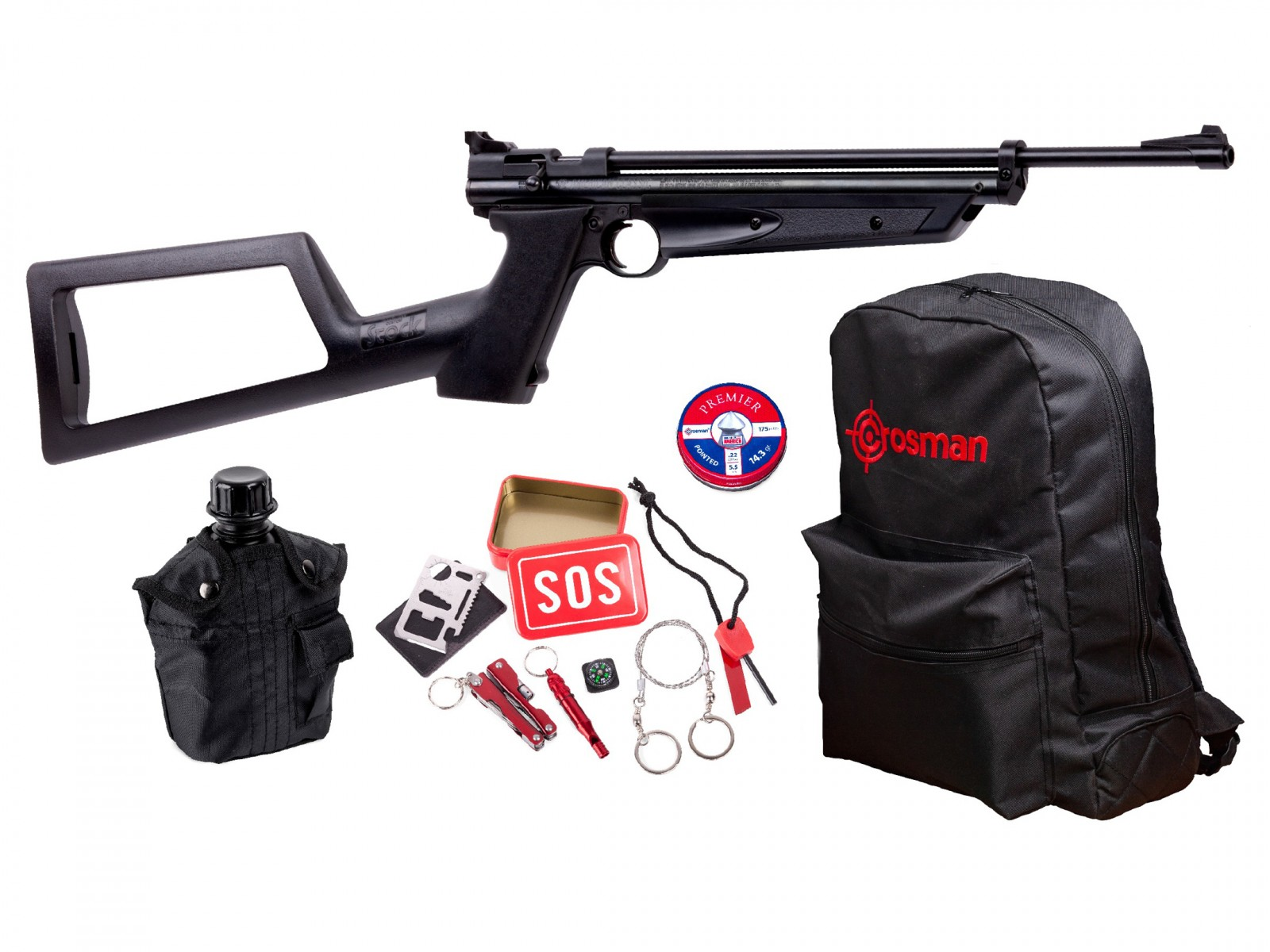 Crosman Doomsday Bug Out Air Rifle Kit 2 0