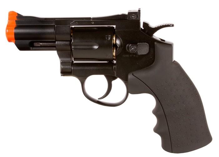 """Phoenix CO2 Airsoft Revolver, 2.5"""" Barrel, Black"""