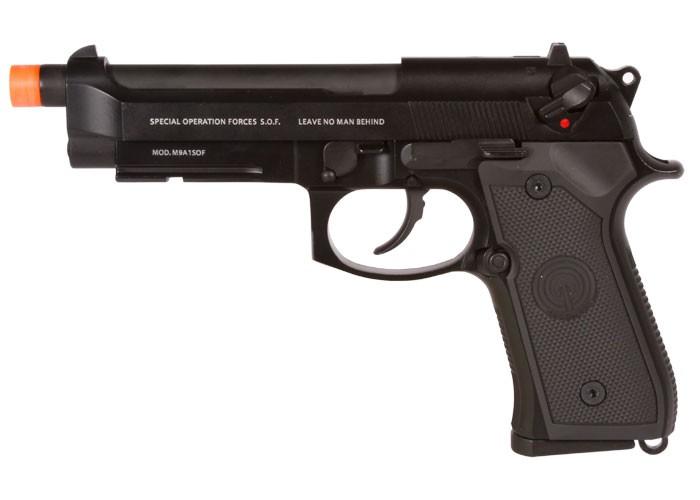 Socom Gear M9A1 GBB Metal Airsoft Pistol, Black