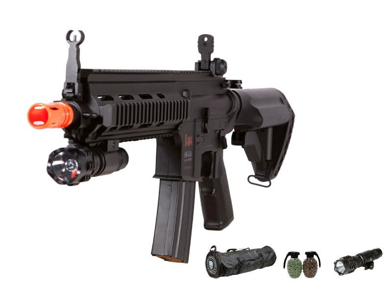H&K 416 AEG Tactical Airsoft Rifle Kit, Black