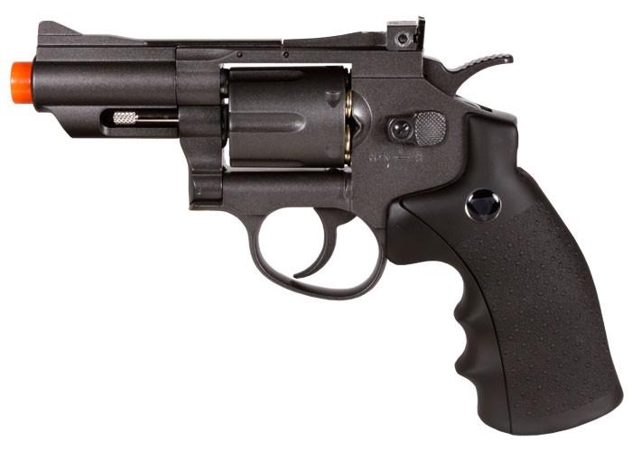 TSD/WG 708 CO2 Airsoft Revolver, Black