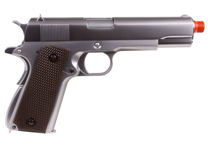 Cheap WE 1911 Full Metal GBB Airsoft Pistol, Chrome 6mm