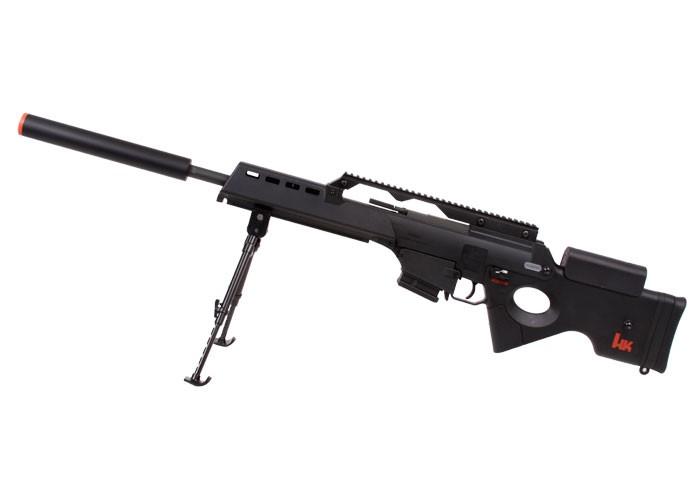 H&K SL9 Elite AEG Airsoft Sniper Rifle, Black