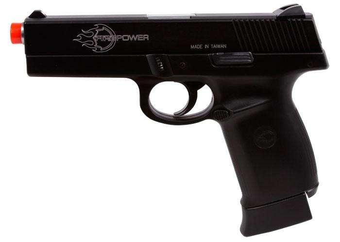 Firepower .40 CO2 Airsoft Pistol, Black