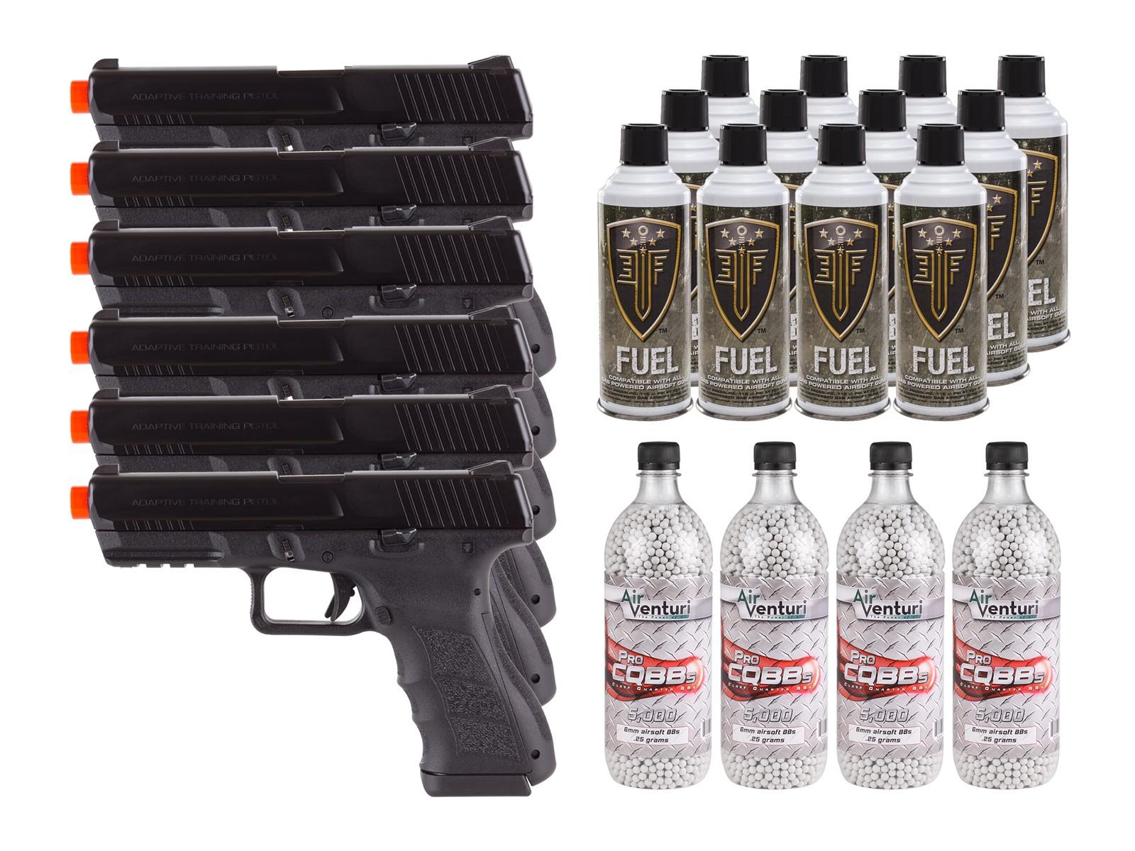 KWA ATP Adaptive Training Airsoft Pistol, 6 Pack